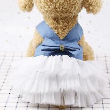 Clothes For Pet Dog Denim Yarn Dress Summer Dress Yarn Skirt Puppy Dress YW