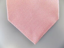 "PINK $135 MEN Pink Geometric Skinny WIDTH 3.1"" NECK TIE 100% Silk CASUAL P29"