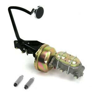 35-40 Ford OEM X 8 Single Brake Pedal kit Drum/Drum3in Chr Pad cylinder master
