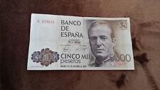 billet de banque ESPAGNE 5000 PESETAS 1979