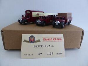Oxford diecast 1:76 Ltd Edn Set of 3 British Rail Vehicles with Cert New Boxed