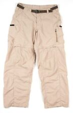 REI Womens Convertible Pants Hiking Outdoors Size 6 Belted Cargo Beige