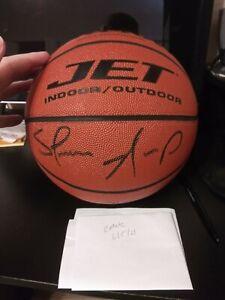 Shawn Kemp Autographed Wilson Jet Leather NBA Basketball Sonics Upper Deck UDA