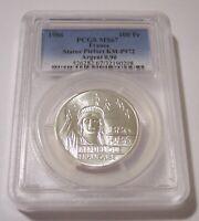 PCGS France Silver 1986 100 Francs KM-P972 Statue of Liberty Centennial MS67*