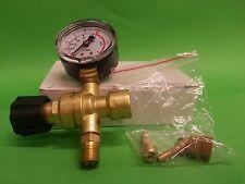Mini Argon CO2 Gas Regulator Single Guage Fit For Disposable Cylinder Bottle