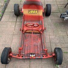 Vintage Offyette Go Kart Racing Kart Frame Wheels Project Parts