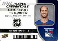 2018-19 Upper Deck MVP NHL Player Credentials Kevin Shattenkirk #NHL-KS