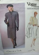 Vogue Oscar de la Renta  sewing pattern, misses jacket, skirt, shirt size 16
