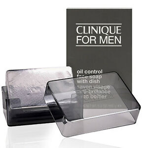 Clinique For Men Oil Control Face Soap With Dish 5.2oz EXTRA STRENGTH - FRESH!