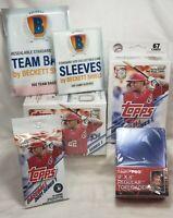 LOT🔥 2021 Topps Baseball Series 1 Blaster Hanger Pack & 25 Ultra Pro Toploaders