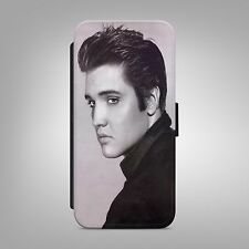 ELVIS PRESLEY KING OF LEATHER FLIP WALLET PHONE CASE COVER FOR IPHONE & SAMSUNG
