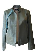 *RICHARD NICOLL* FRED PERRY GLITTER GREEN HARRINGTON BOMBER JACKET (UK 10)