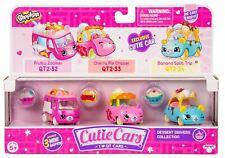 Shopkins CUTIE CARS (3 Pack) Dessert Drivers (Series 2) Toy Vehicle Figures Set