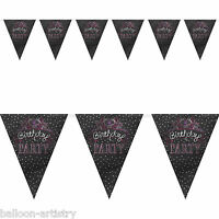 12ft Black Sweet Cupcakes Birthday Party Pennant Banner Bunting Decoration