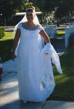 Original Photo of Beautiful Bride, Outside, Wedding