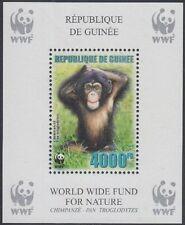Guinea Mi.Nr. Block 928A Naturschutz, Schimpanse, postfrisch