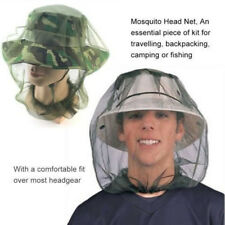 Camping Fishing Mesh Face Protector Anti Mosquito Head Net Bee Bug Insect Hat