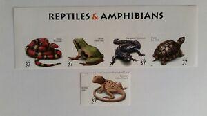 2003 Reptiles & Amphibians #3814-18 MNH