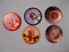 5 Mighty Morphin Power Rangers Power Caps Pogs 1994 Saban McDonalds Goldar (O)