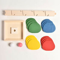 Baby Funny Educational Toy Blocks Wooden Tree Marble Ball Run Track Game*1pc YA9