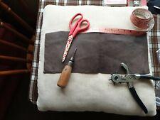 Beautiful Brown Nubuck Leather Offcuts