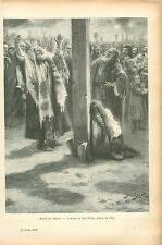 Juifs Rabbin/ Haine et Amour par Jan Styka Peintre Pologne GRAVURE PRINT 1906