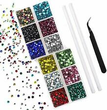 5400pcs 12 Colors Rhinestone Setter Fix Wand Tool Bedazzler Kit Arts US