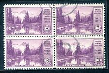 #742 Used Block - Nearly XF/Superb w/ Lightly Struck Muted Dbl Oval Cxl