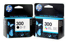 HP 300 Black & Tri-Color Ink Cartridge Combo Europe CC640EE CC643EE Genuine New