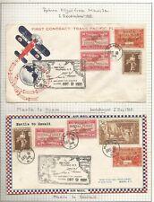 2 ND DEC 1935 CHINA CLIPPER FLIGHTS SAN FRANCISCO TO MANILLA & MANILLA TO GUAM