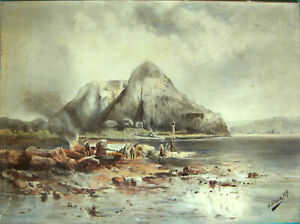 PEINTURE SUR PAPIER CANSON & MONGOLFIER VIDALON-LES-ANNONAY SIGNE H.ADAM 1896