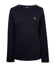 Pretty Green T Shirt Mitchell Mens Black Long Sleeve Crew Neck Top XL