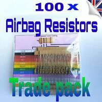 100 x AIRBAG BYPASS RESISTORS mixed all makes pack SRS MOT FAULT LIGHT