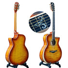 40 inch Acoustic Guitar with Cutaway Armguard Full Tiger Pattern Acoustic Guitar for sale