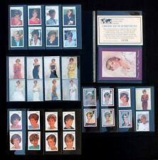 Princess Diana Mint Stamp Collection Lot of 33 in Excellent Vis-Grip Display