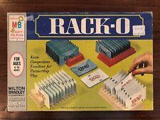 Vintage Rack-O Vintage 1966 Milton Bradley Card Board Game Missing One Card
