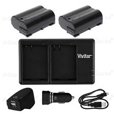 2X EN-EL15 Replacement Battery & USB Dual Charger+AC/DC for Nikon D750 D600 D810