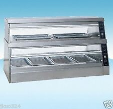 """Heated Glass Food  Display Warmer Cabinet Case 60"""" or 5 FT Stainless Steel"""