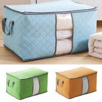 Foldable Large Clothes Pillows Storage Bag Box Quilt Bedding Duvet Organizer
