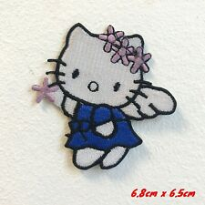 Hello Kitty Angel Blue Iron on Sew on Embroidered Patch applique #1714