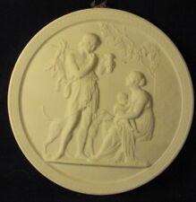 Royal Copenhagen bisque plaque porcelain china Denmark B (A37)