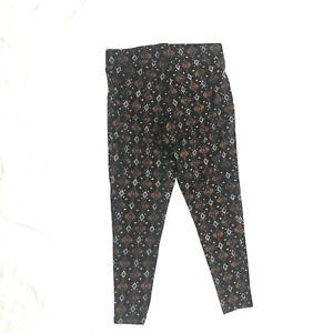 Torrid Women's Size 1  Leggings Geometric Print Crop Premium Stretch Mid Rise