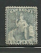 Album Treasures Barbados Scott # 51b  1p  Brirannia  Mint NG  Catalog $150