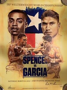 Errol The Truth Spence vs Mikey Garcia Richard Slone Dual Signed Poster 10/50