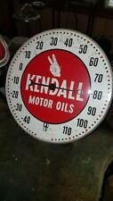 Vintage Kendall Motor Oil Thermometer Pam Clock Company Gas Sign