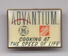 ADVANTIUM-GE-COOKIN AT THE SPEED OF LIFE-HOME DEPOT-PINBACK-1 1/4 INCHES WIDTH