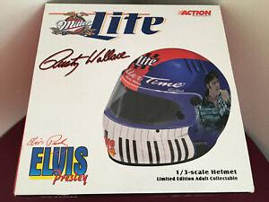 Rusty Wallace Elvis Presley Simpson 1/3 Mini Racing Helmet Ford Miller Lite