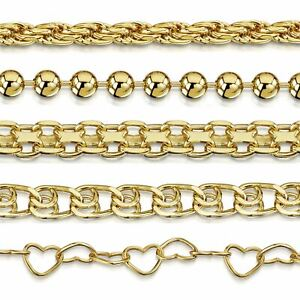 Amberta Genuine Gold Plated Bracelet 925 Sterling Silver Bangle Chain Italy