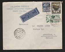 1934 Italy Rodi RARE! cover WORLD CUP FOOTBALL franking SOCCER CALCIO to Holland