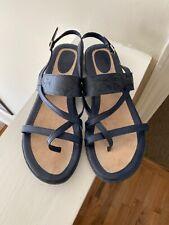 BOC Born Concepts Women's Size 10M Navy Blue Strappy Flat Sandals Buckle Strap